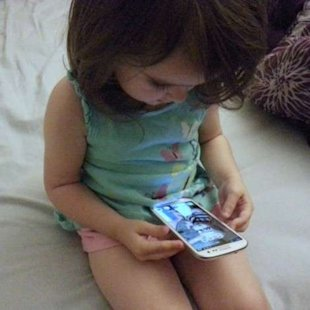 Smartphone and toddler