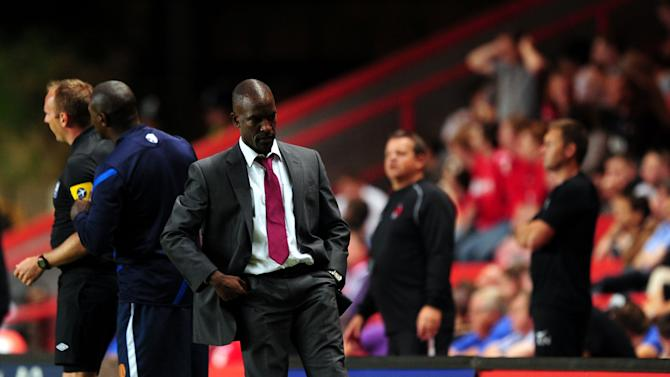 Chris Powell kicks a water bottle which resulted in him being sent to the stands