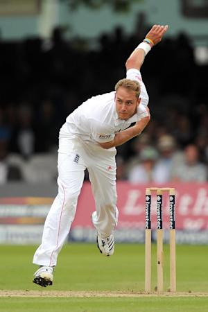 Stuart Broad, pictured, is likely to see action in place of the injured Steven Finn