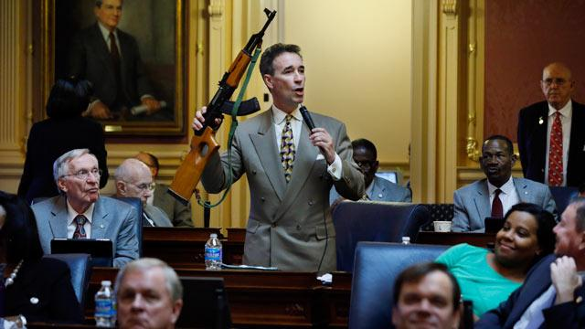 Virginia Lawmaker Brandishes AK-47