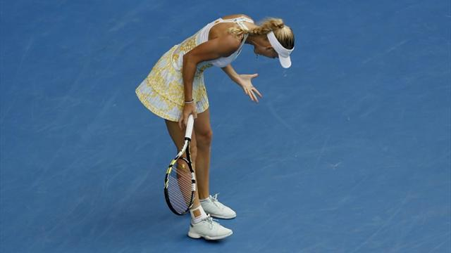 Australian Open - Wozniacki crashes out in Melbourne