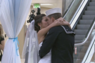 Dylan Ruffer married his fiancée Madison Meinhardt at Reno-Tahoe International Airport.