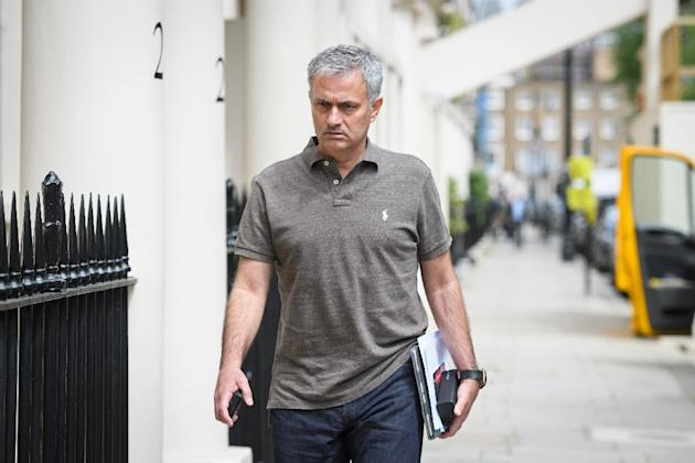 Jose Mourinho returns to his home in London on May 24, 2016