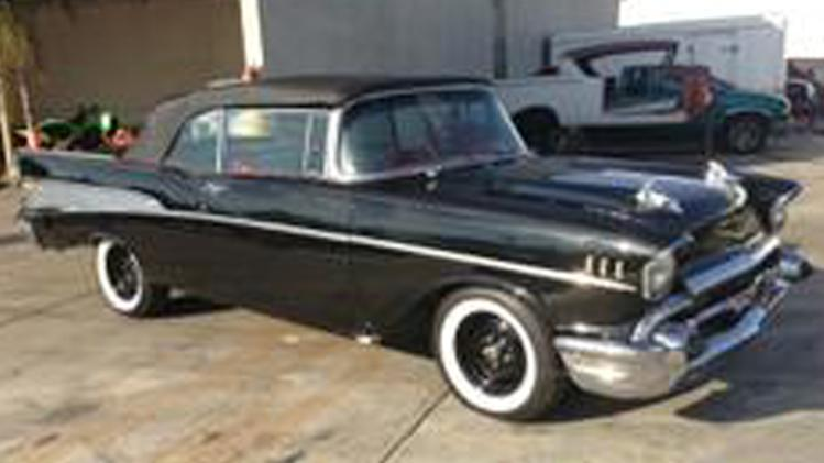 This photo provided by the Los Angeles County Sheriff's Department shows a 1957 Chevy Bel Air that belongs to Dr. Phil' McGraw, that was reported stolen on Sunday Dec. 2, 2012. The Los Angeles County Sheriff's Department says in a news release that McGraw was driving the collector car when it broke down and was taken to the RODZ shop in Burbank. The car is worth at least $80,000 and was stolen that night, Sunday. (AP Photo/LA County Sheriff)