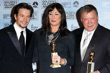 Mark Wahlberg, Anjelica Huston and William Shatner Golden Globe Awards - 1/16/2005