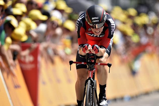 Australia's Rohan Dennis competes in a 13.8 km individual time-trial, the first stage of the 102nd edition of the Tour de France cycling race on July 4, 2015, in Utrecht, The Netherlands