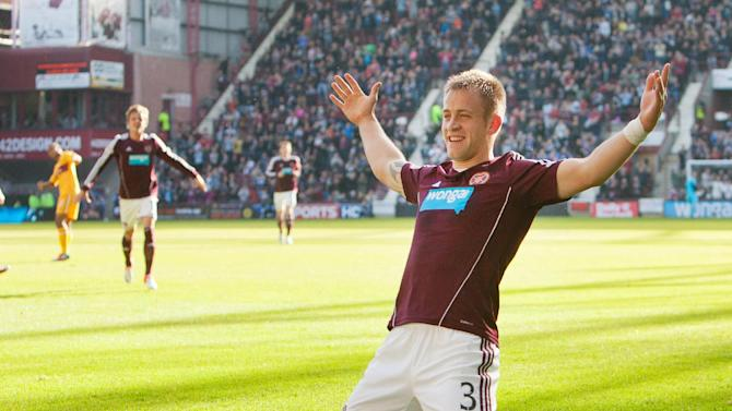 Danny Grainger was on target as Hearts defeated Motherwell