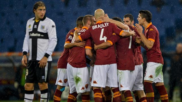 Italian Serie A - Totti inspires Roma victory over Parma