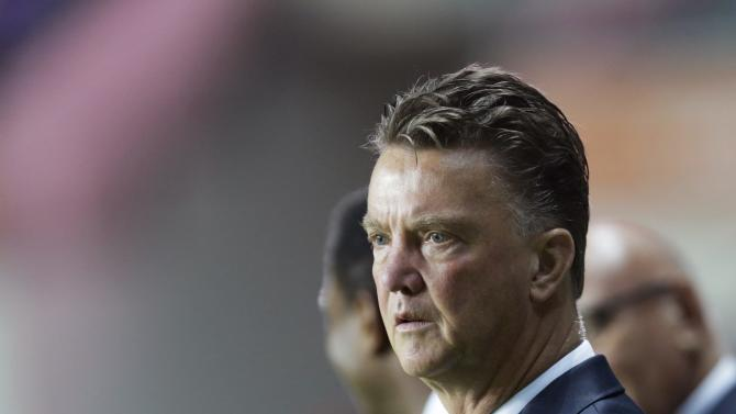 The Netherlands' team manager Van Gaal looks on during their 2014 World Cup qualifying soccer match against Estonia in Tallinn