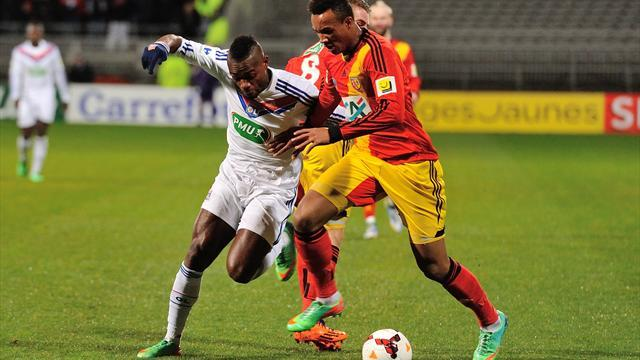Ligue 1 - Lens book Monaco cup tie after late show in Lyon