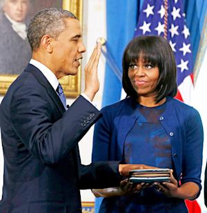 """President Barack Obama Calls Michelle Obama's New Bangs the """"Most Significant"""" Event of Inauguration"""