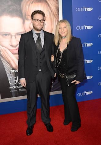 Seth Rogen and Barbra Streisand attend the premiere of Paramount Pictures' 'The Guilt Trip at Regency Village Theatre, Los Angeles, on December 11, 2012 -- Getty Images