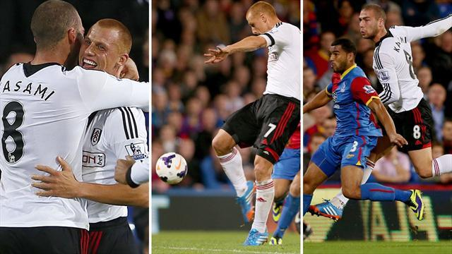 Premier League - Kasami and Sidwell hit wonder goals in Fulham romp