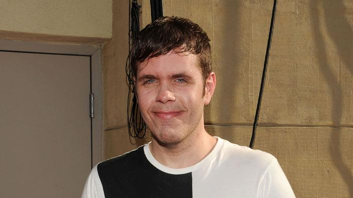 "Gossip blogger Perez Hilton attends MTV's ""The Hills Live: A Hollywood Ending"" Finale at The Roosevelt Hotel on July 13, 2010 in Hollywood, California."