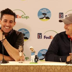 """Jordan Spieth and Jake Owen talk about """"the plaque"""" before AT&T Pebble Beach"""
