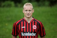 Sebastian Rode of Eintracht Frankfurt poses during an official photo shoot at the Commerzbank Arena in Frankfurt, western Germany on July 19, 2012. Rode will join Bayern Munich, either at the end of the season or when his contract expires in 2014, Eintracht Frankfurt CEO Heribert Bruchhagen has revealed