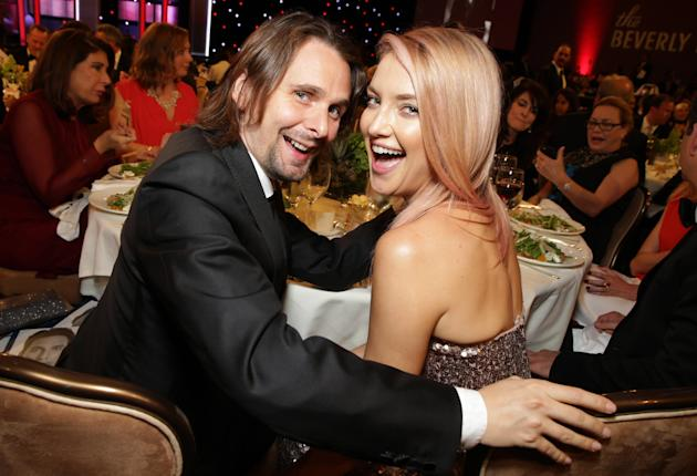 EXCLUSIVE Matthew Bellamy and Kate Hudson seen at the 28th Annual American Cinematheque Awards Honoring Matthew McConaughey held at The Beverly Hilton on Tuesday, Oct 21, 2014, in Beverly Hills. (Phot