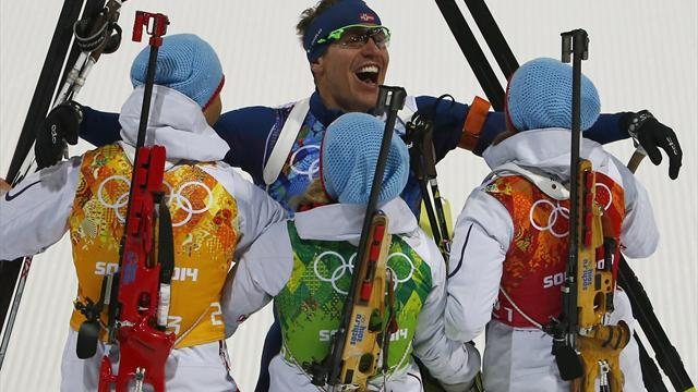 Biathlon - Bjoerndalen makes history with 13th Winter Olympic medal