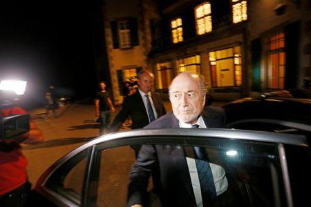 File photo of former FIFA President Blatter leaving the CAS in Lausanne