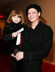 This file photo shows former supermodel Linda Evangelista with her son, Augustin, in New York, in 2009. Evangelista on Thursday clashed in court with Frenchman Francois-Henri Pinault over child support for her son fathered by the Gallic tycoon, one of France's wealthiest men