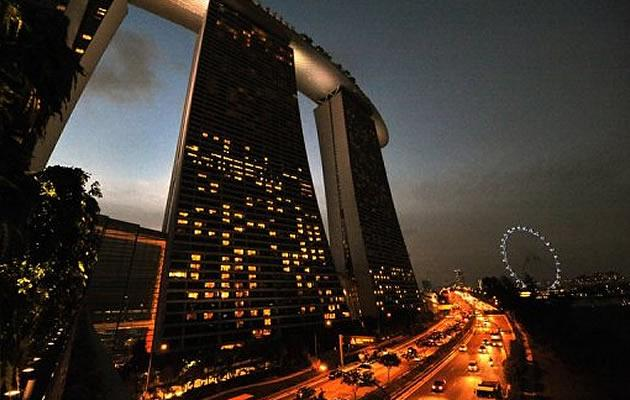 Marina Bay Sands receives its second set of fines in 2013. (AFP photo)