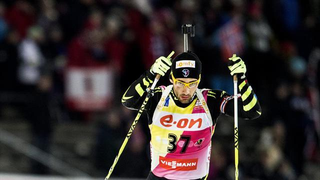 Biathlon - Fourcade takes mass start win in Oberhof