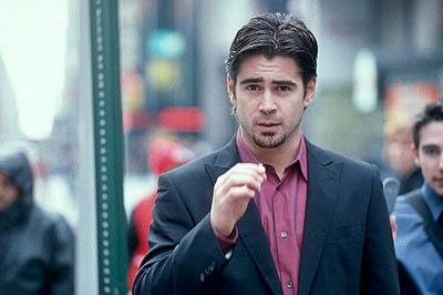 Colin Farrell as a slick media consultant who is trapped in a phone booth after being told by a caller