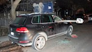 This SUV was damaged in a string of vandalism acts in the Bathurst Street and Eglinton Avenue West area