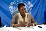 UN humanitarian chief Valerie Amos (pictured in March) was headed for China ahead of a visit to North Korea, stricken by a new food crisis, as the UN presses Pyongyang to give aid agencies more freedom. Amos will have talks with government officials in China this week, before going on next Monday to meet ministers in the isolated North