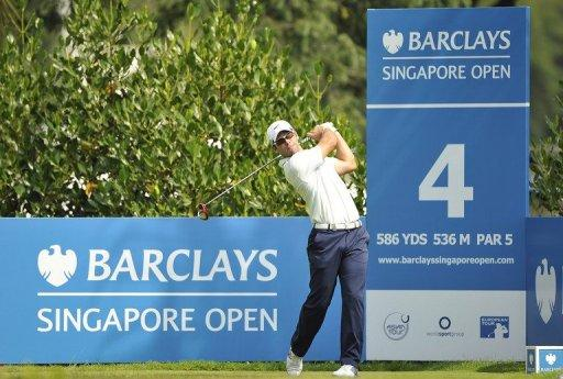 Photo provided by the WSG on November 8 shows Paul Casey during the Singapore Open tournament. The Singapore Open is facing a possible change of dates, prize money and even sanctioning bodies as organisers search for a new title sponsor after the withdrawal of Barclays, officials said Thursday