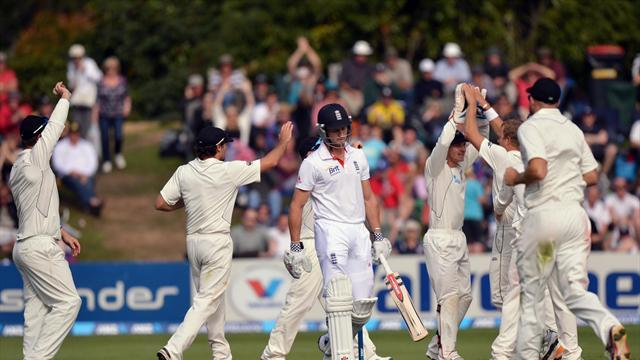Cricket - Compton falls as England build