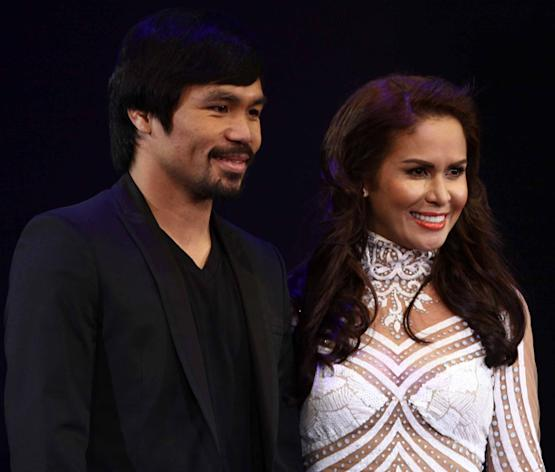 Manny Pacquiao with wife Jinkee Pacquiao (NPPA Images)