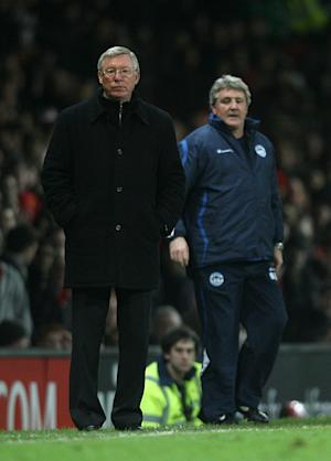 Sir Alex Ferguson (left) and Steve Bruce