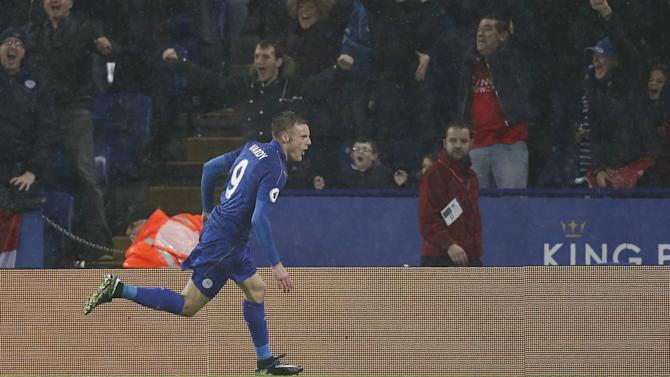 Leicester City 4-2 Manchester City: Vardy hits hat-trick as Foxes run riot