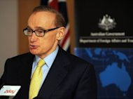 Australian Foreign Minister Bob Carr, pictured on May 23. Australia urged restraint on Thursday in Papua New Guinea after police arrested the country's chief justice and attempted to charge him with sedition