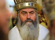 This photo taken on January 21, 2012 shows Bishop Kiril, during an orthodox mass in the Alexander Nevski cathedral in Sofia. The controversial Bulgarian bishop -- who spied for the Communists and had a taste for luxury cars -- has been found dead on a Black Sea beach