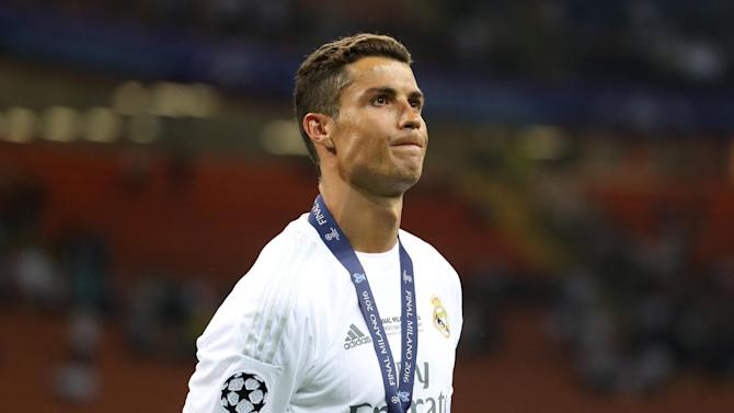 Real Madrid's Cristiano Ronaldo after winning the UEFA Champions League