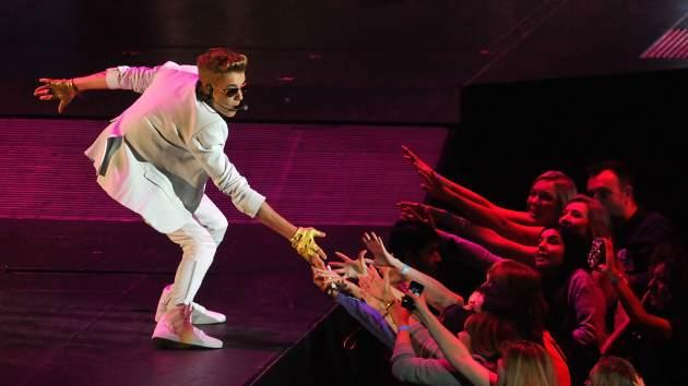 Justin Bieber performs live on stage at 02 Arena on March 4, 2013 in London -- Getty Images