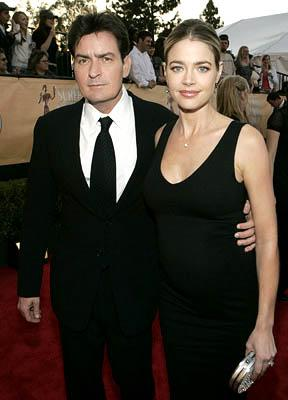 Charlie Sheen and Denise Richards Screen Actors Guild Awards - 2/5/2005