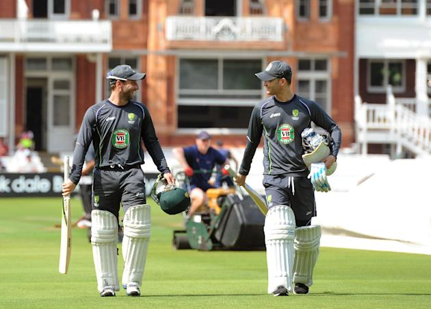 Cricket - Second Investec Ashes Test - England v Australia - Australia Nets Session - Day One - Lord's