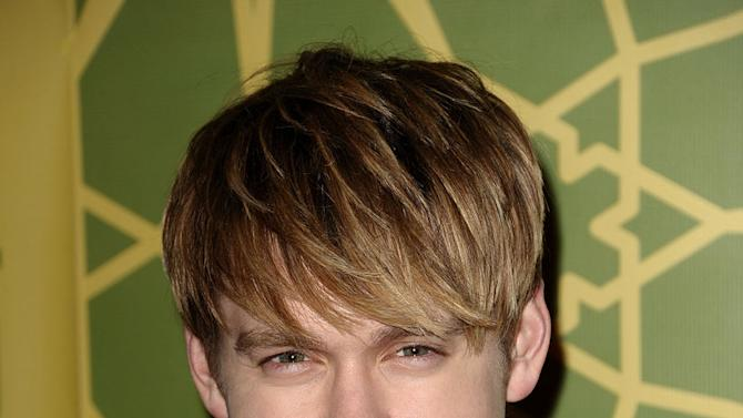 """Chord Overstreet (""""Glee"""") attends the 2012 Fox Winter TCA All-Star Party at Castle Green on January 8, 2012 in Pasadena, California."""