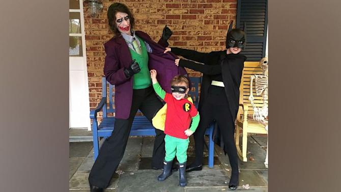 Superhero Mom Dresses Up in Costumes to Spread Joy at the Bus Stop