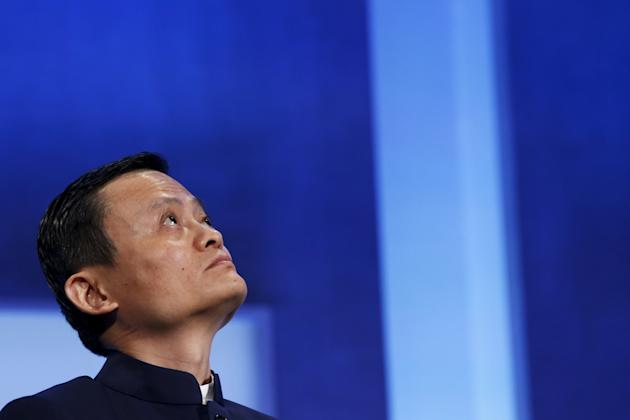 "File photo of Alibaba Group Holding Ltd founder Jack Ma listening to a speaker during the plenary session titled ""Valuing What Matter"" at the Clinton Global Initiative 2014 (CGI) in New York"