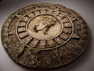 The Mayan Long Count Calendar, which did not predict a doomsday, included dates written out as five hieroglyphs separated by four periods.