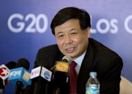 China's Vice Finance Minister Zhu Guangyao at a press conference in Los Cabos, Baja California state, Mexico on June 17. After years of pressure to take a greater role in global affairs, China and India have stepped up by contributing to a new IMF emergency fund -- from which the United States is absent