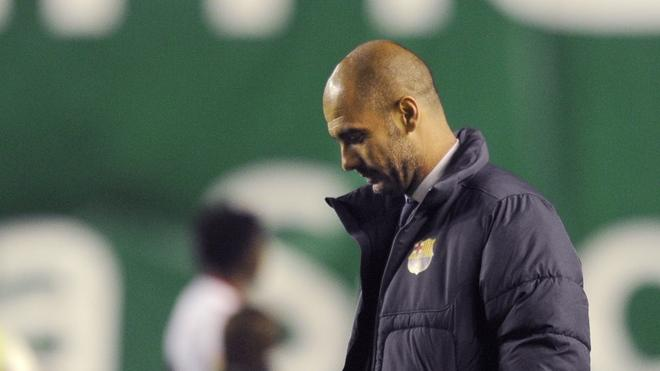 Barcelona's Coach Josep Guardiola Leaves AFP/Getty Images