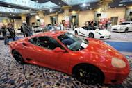 Luxury cars that once belonged to ousted Tunisian dictator Zine El Abidine Ben Ali and his family are displayed at an auction in the Tunis suburb of Gammarth on December 22, 2012. Highlight of a month-long sale is expected to be the cars, which include a Lamborghini Gallardo LP 460, a Bentley Continental sports car, an armoured Cadillac and a Maybach 62