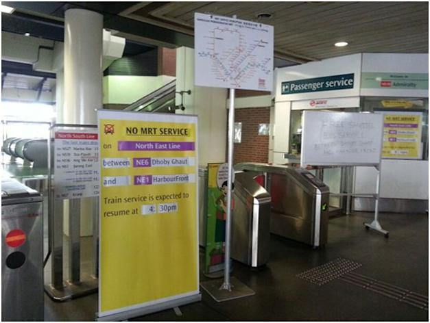 Disruption on the North East Line is expected to be resolved by 4:30pm Thursday. (Yahoo! photo)
