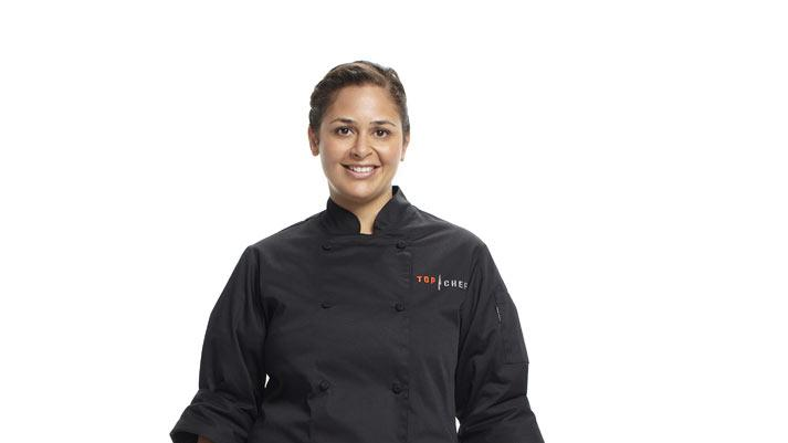 "Antonia competes in the 8th season of ""Top Chef."""