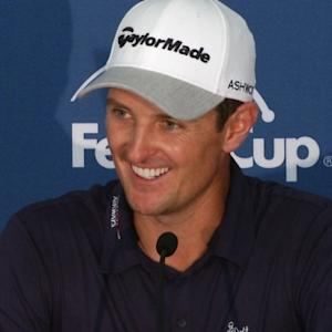 Justin Rose news conference after winning the Zurich Classic